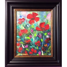Red Poppy Miniature by Elena Guillaumin