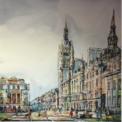 Street Life Union St. Aberdeen by Nigel Cooke